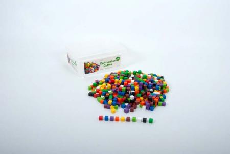 Set de 1000 de cuburi colorate de 1cm cub1
