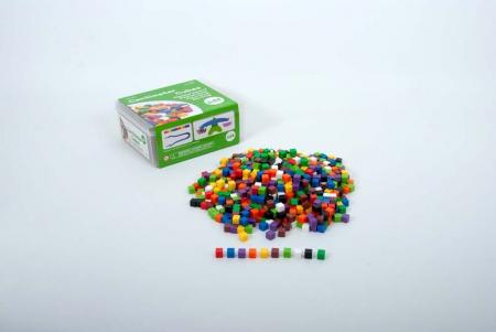 Set de 1000 de cuburi colorate de 1cm cub3
