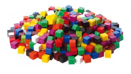 Set de 1000 de cuburi colorate de 1cm cub0