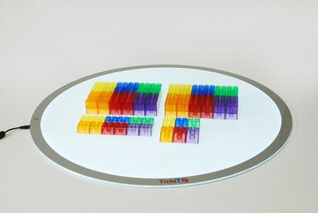 Cuburi de construcții transparente, set de 90 piese, multicolor2