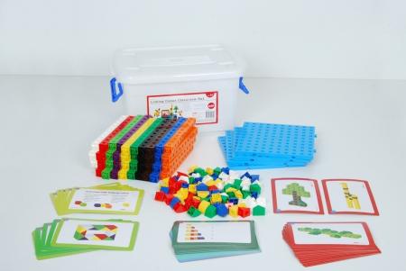 Cuburi de construcții interconectabile, Edx Education, set de 500 bucăți, multicolor4