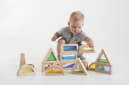 Cuburi de construcții senzoriale, TickiT, set de 16 cuburi, multicolor0