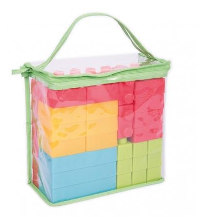 Cuburi de plastic moale, TickiT, set de 45 cuburi, multicolor2