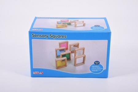 Set de 7 pătrate senzoriale de diferite culori [1]