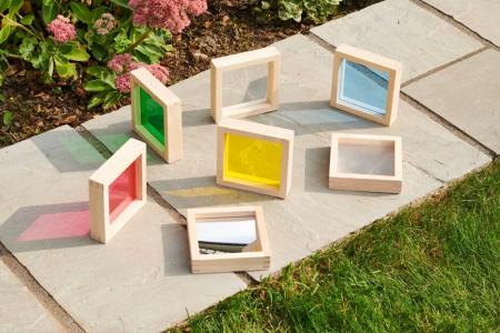 Set de 7 pătrate senzoriale de diferite culori [6]