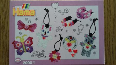 FASHION - 2000 mărgele HAMA MIDI în cutie cadou MIC3
