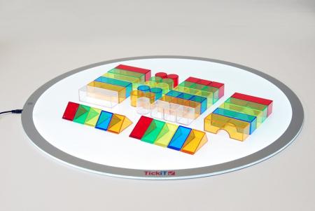 Set de 50 buc cuburi de construcții COLORATE transparente din plastic4