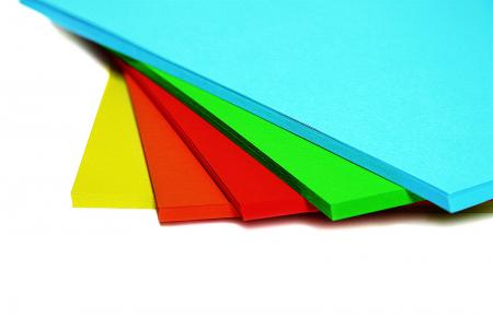 Hârtie colorată A4, set de 100, 5 culori intense [0]