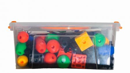 Joc de construcții 3-D Connect, Vinco, set de 140 piese, multicolor4