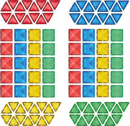 Joc de construcții magnetic Magne Tiles Nexus 100 de piese1