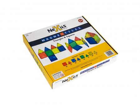 Joc de construcții magnetic Magne Tiles Nexus 100 de piese0