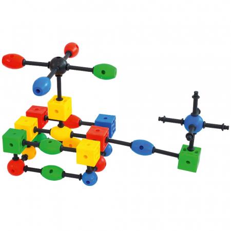 Joc de construcții 3-D Connect, Vinco, set de 140 piese, multicolor3