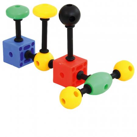 Joc de construcții 3-D Connect, Vinco, set de 140 piese, multicolor1