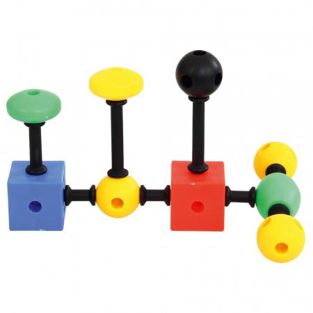 Joc de construcții 3-D Connect, Vinco, set de 140 piese, multicolor2
