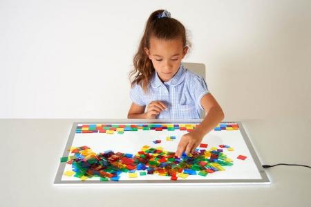 Joc sortare pătrate transparente, Edx Education, set de 300 bucăți4