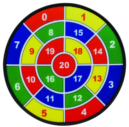 Joc tinta, set 3 ținte matematice cu 9 mingi3