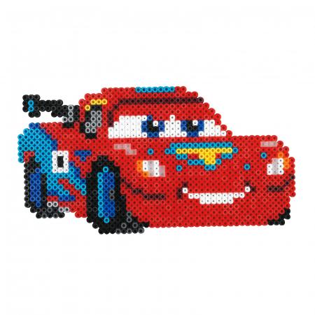 Mașinuțe Disney Fulger McQueen, set cu 4000 mărgele Hama în cutie1