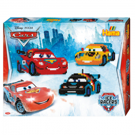 Mașinuțe Disney Fulger McQueen, set cu 4000 mărgele Hama în cutie0
