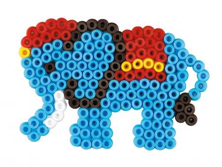 Set de 400 buc. mărgele de călcat HAMA Midi în cutie cadou cu o planșetă Elefant1