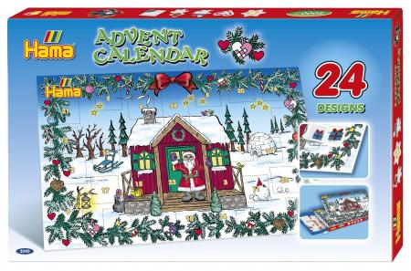 Margele de calcat HAMA MIDI Calendar Advent 5000 in cutie + 5 plansete de lucru mic2