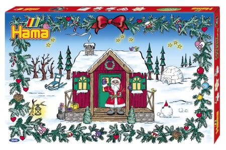 Margele de calcat HAMA MIDI Calendar Advent 5000 in cutie + 5 plansete de lucru mic [1]