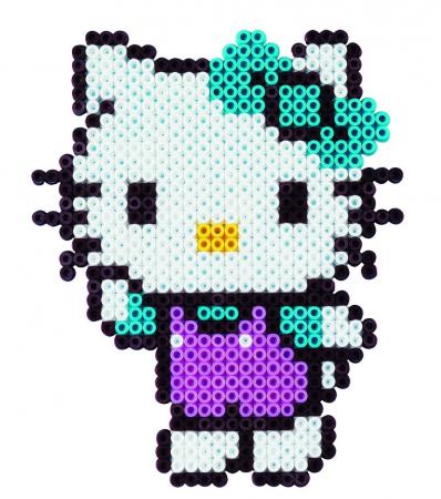 Mărgele de călcat HAMA MIDI Hello Kitty 2000 în cutie2