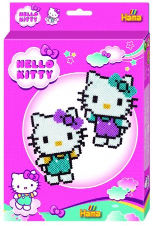 Mărgele de călcat HAMA MIDI Hello Kitty 2000 în cutie0
