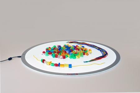 Mărgele transparente mari de înșirat, 192 bucăți, multicolor5