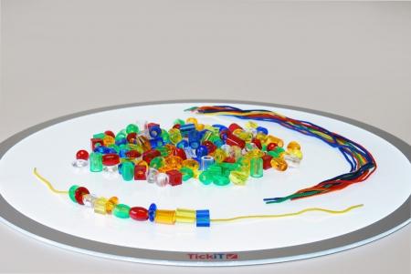 Mărgele transparente mari de înșirat, 192 bucăți, multicolor6