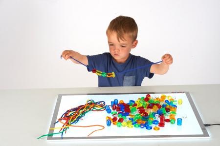 Mărgele transparente mari de înșirat, 192 bucăți, multicolor2