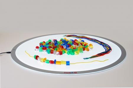 Mărgele transparente mari de înșirat, 192 bucăți, multicolor7