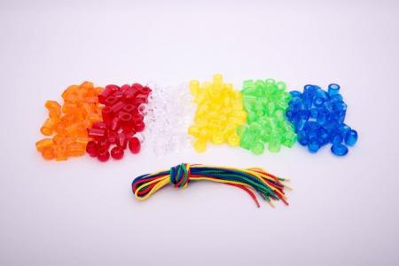 Mărgele transparente mari de înșirat, 192 bucăți, multicolor8