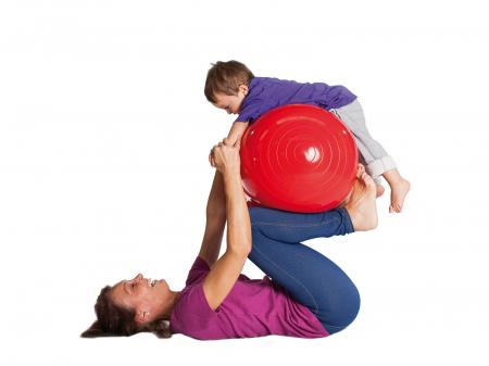 Minge alună fizioterapeutică Physio roșie-850