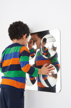 Oglindă acrilică mare cu 4 cupole [2]