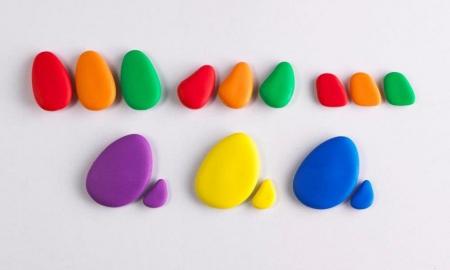 Pietre CURCUBEU, set de 36, multicolor2