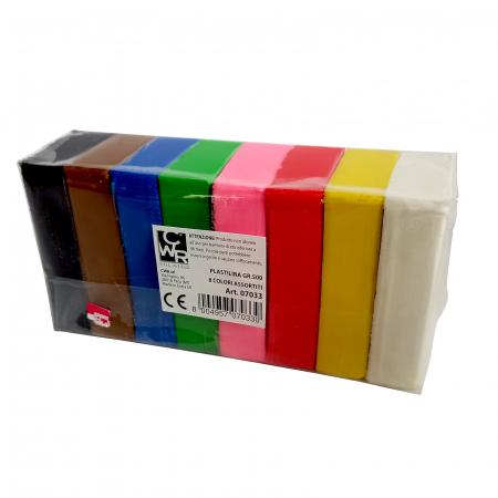 Plastilină 500 g 10 culori asortate [1]