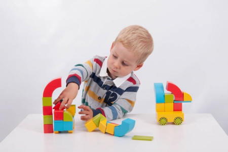 Set cub magnetic de construcții TickiT, 36 bucăți, multicolor3