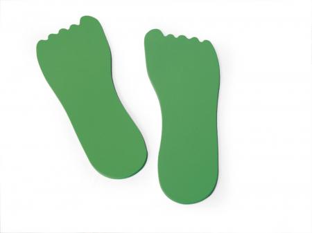 Set de 12 urme de picioare din EVA [0]