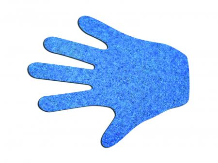 Set de 12 urme de mâni din fetru [0]