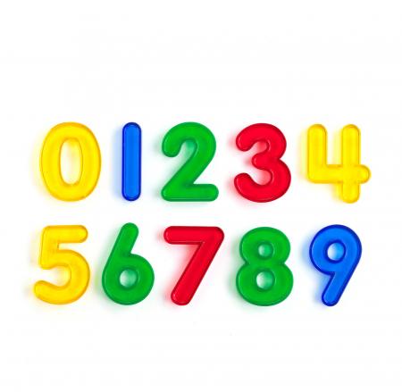 Set de 10 numere colorate transparente de înălțime 50 mm [0]