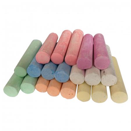 Set de 20 crete colorate rotunde groase3