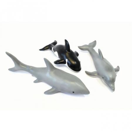 Set de 3 animale marine din cauciuc moale ecologic dimensiune medie 25cm [0]