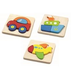 Set de 3 puzzle lemn MIJLOACE DE TRANSPORT0