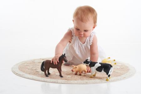 Set de 4 animale domestice din cauciuc moale dimensiune medie 15cm4