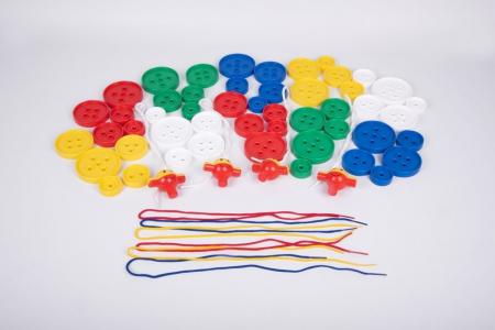 Nasturi de insirat plastic Gigant, Commotion, set de 44 bucati, multicolor5