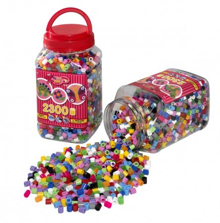 Set de 6 galeti cu 2300 Margele de calcat HAMA MAXI0