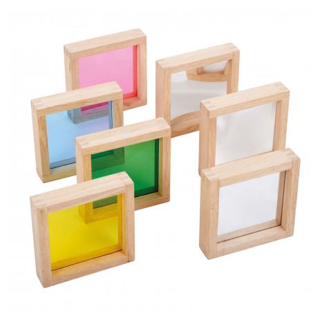 Set de 7 pătrate senzoriale de diferite culori [0]
