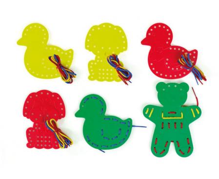 Set de 9 animale de șnuruit cu 27 șnururi in 3 culori2