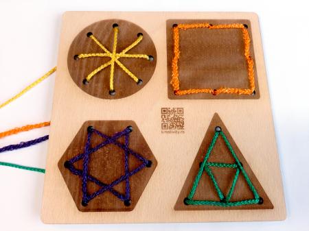 Tablă perforată pentru împletire cu șnur - forme geometrice [4]