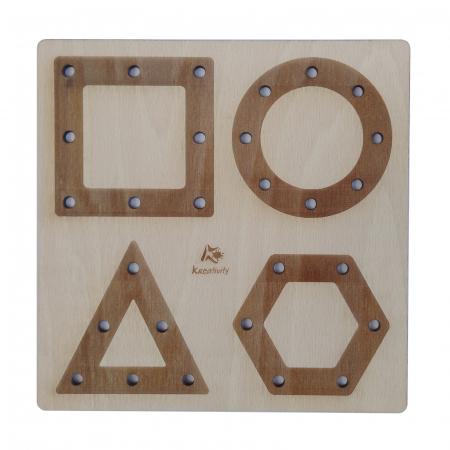 Tablă perforată pentru împletire cu șnur - forme geometrice [2]